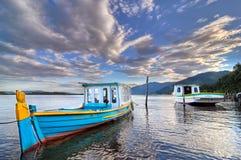 Long bateau de coque Photographie stock