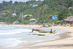 Long Bay. View of a typical beach on the easter shore of Jamaica Royalty Free Stock Images