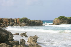 Long Bay. View of a typical beach on the easter shore of Jamaica Stock Images
