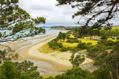 Long Bay Beach Auckland New Zealand; Regional Park. View from hill`s top Stock Images