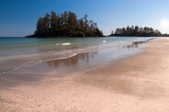 Long Beach. Beautiful blue ocean and sandy beach, Vancouver Island Royalty Free Stock Photography