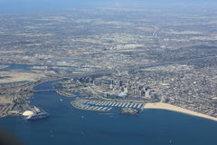 Long Beach From Above Stock Photography