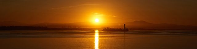 Long Beach, alba di CA fotografie stock libere da diritti