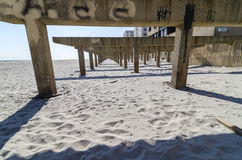 Long Beach Boardwalk po Huraganowego Sandy Fotografia Stock