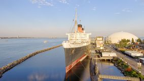 LONG BEACH, CA - AUGUST 1, 2017: RMS Queen Mary is the ocean lin Royalty Free Stock Photo