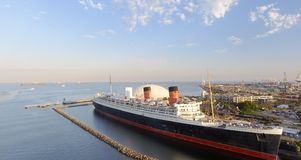 LONG BEACH, CA - AUGUST 1, 2017: RMS Queen Mary is the ocean lin Stock Photography