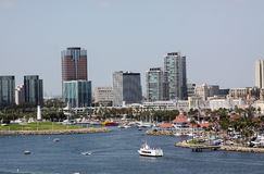 Long Beach California. View of Long Beach California Harbor and Downtown skyline Royalty Free Stock Photography