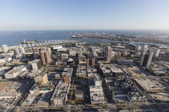 Long Beach California Downtown Aerial Royalty Free Stock Photography