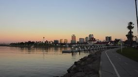 Long Beach California stock video footage
