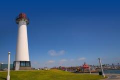 Long Beach California skyline from Shoreline Lighthouse Stock Photography
