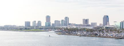 Free Long Beach California The USA Port Skyline With Skyscrapers Royalty Free Stock Photography - 145334397