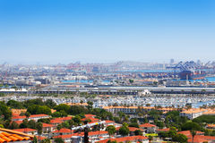 Long Beach city, marina and shipping port, USA Stock Photo