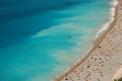 Long beach. Long city beach in Nice France cote d azur Stock Photos