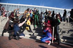 Long Beach Comic Expo Group Cosplayers 2 Royalty Free Stock Photo