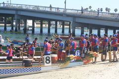 Long Beach Dragon Boat Festival Foto de Stock Royalty Free
