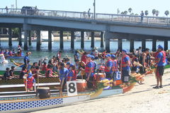Long Beach Dragon Boat Festival Images libres de droits