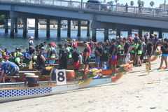 Long Beach Dragon Boat Festival Fotografia de Stock