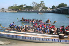 Long Beach Dragon Boat Festival Imagem de Stock