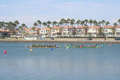 Long Beach Dragon Boat Festival Lizenzfreies Stockbild