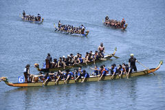 Long Beach Dragon Boat Festival Royaltyfri Fotografi