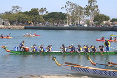 Long Beach Dragon Boat Festival. Annual boat race in Long Beach, California on 7/26/2014 Royalty Free Stock Photo