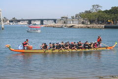 Long Beach Dragon Boat Festival. Annual boat race in Long Beach, California on 7/26/2014 Stock Images