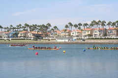 Long Beach Dragon Boat Festival. Annual boat race in Long Beach, California on 7/26/2014 Royalty Free Stock Photography