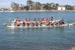 Long Beach Dragon Boat Festival. Annual boat race in Long Beach, California on 7/26/2014 Royalty Free Stock Photos