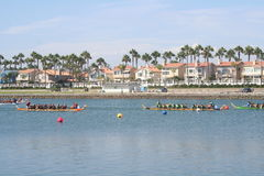 Long Beach Dragon Boat Festival. Annual boat race in Long Beach, California on 7/26/2014 Stock Image