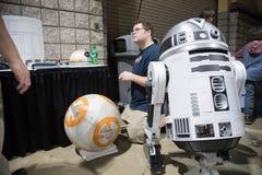 Long Beach expo Droid Komiczny budowniczy 2 fotografia royalty free