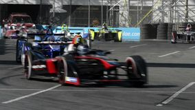 Long Beach Formula-e Electric grand prix stock video footage