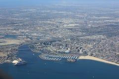 Long Beach från över Arkivbild