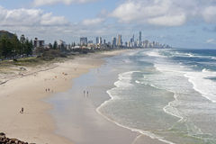 The Long Beach of the Gold Coast Royalty Free Stock Photography
