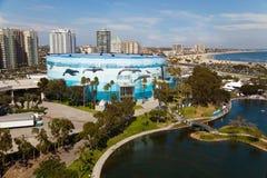 Long Beach Harbor, California stock photo