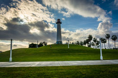 Long Beach Harbor Lighthouse, in Long Beach  Royalty Free Stock Images