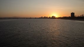 Long Beach Harbor Sunset Time Lapse Video stock video footage