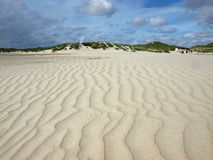 Long beach on the island of amrum Stock Photos