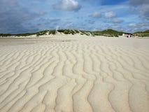 Long beach on the island of amrum Stock Photos