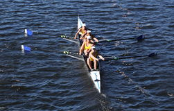 Long Beach Junior Crew races in the Head of Charles Regatta Stock Images