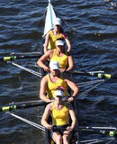 Long Beach Junior Crew races in the Head of Charles Regatta Royalty Free Stock Image