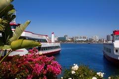 Long Beach Kalifornia linia horyzontu od kwiatu portu Obraz Royalty Free