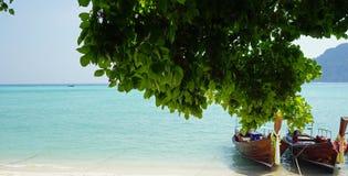 long beach on ko phi phi island Stock Photos