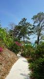 long beach on ko phi phi island Royalty Free Stock Photos