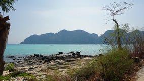 long beach on ko phi phi island Stock Photo