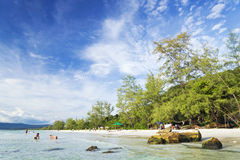Long beach on koh rong island in cambodia Stock Image