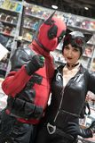 Long Beach Komiczny expo Deadpool i Catwoman 1 zdjęcia stock