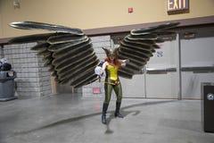Long Beach Komiczny expo Hawkgirl zdjęcia royalty free