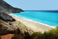 Long Beach Lefkada, Grekland Royaltyfria Bilder