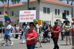 Long Beach Lesbian and Gay Pride Stock Photography