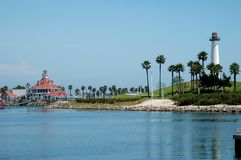 Long Beach Lighthouse. Lighthouse and Harbor, Long Beach, California Royalty Free Stock Photos